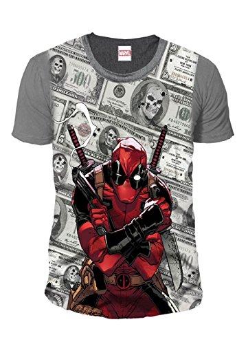 Deadpool - T-shirt premium pour homme – Bling Dollars (multicolore) (S-XL) - Multicolore - Medium