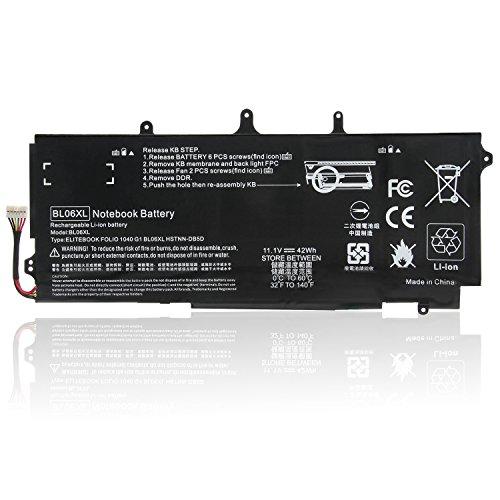 ARyee BL06XL - Batería Compatible con HP BL06 BL06XL BL06042XL HSTNN-DB5D HSTNN-IB5D HSTNN-W02C, HP EliteBook Folio 1040 G0 G1 G2 8CG43403JN F0G82AV F2R71UT G3K14PA G3K15PA (42 WH 11,1 V)
