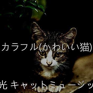 カラフル(かわいい猫)
