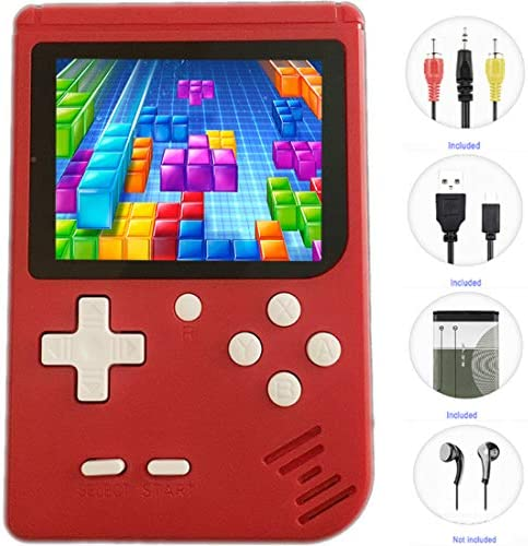 JJFUN Retro Handheld Games for Kids, 8 Bit Retro 400 Classic Games 3.0″ LCD Screen Portable Video Game Player Support TV Output Electric Learning Toys for Boys Girls Ages 4-12 (RED)