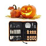 Kits de talla de calabaza de Halloween, 12 piezas profesionales para Cortar Calabaza para decoraciones de calabaza,...
