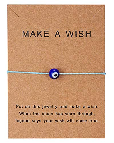 Sadingo Bracelet à souhaits « Evil Eye », « Make a Wish » -