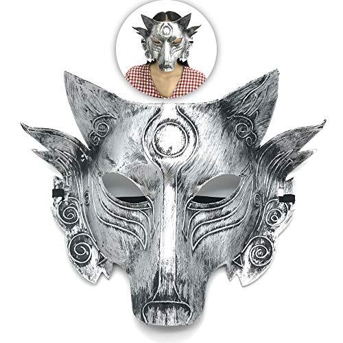Schneespitze Werwolf Wolf Maske,Cosplay Wolf Kostüm Maske,Cosplay Requisiten,Full Face Maskerade Maske for Halloween, Masquerade,Role Playing,Party Supplies