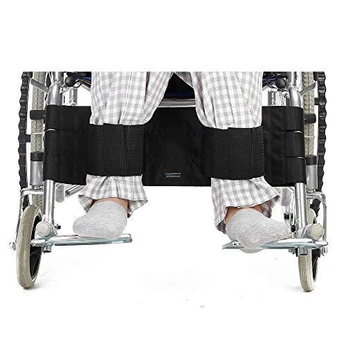 JJZXPJ Rollstuhl Sicherheitsgurt Rollstuhl Fußraste Bein-Bügel-Sicherheitsgurt Fixierung Seatbelt Sicherheit Fußstütze Beckengurt for Patienten Ältere Patienten und Senioren Zubehör, Schwarz