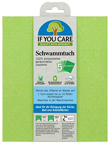If you care Schwammtuch kompostierbar/waschbar/gentechnikfrei, 2er Pack (2 x 5 Stück)