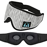 Bluetooth Eye Mask for Sleeping, CALIONLTD Sleep Headphones Wireless Bluetooth 5.0 Music Travel Sleeping Headphones Handsfree Sleeping Mask with Built-in Speakers Microphone Washable