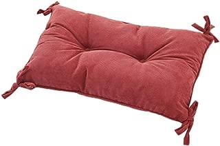 QYA-XZ Corduroy Fabric Chair Pad, Rectangle 11.8 X 19.7 Inch Stool Cushion with Ties, Comfort Seat Cushioning- 30x50cm(12x20inch)