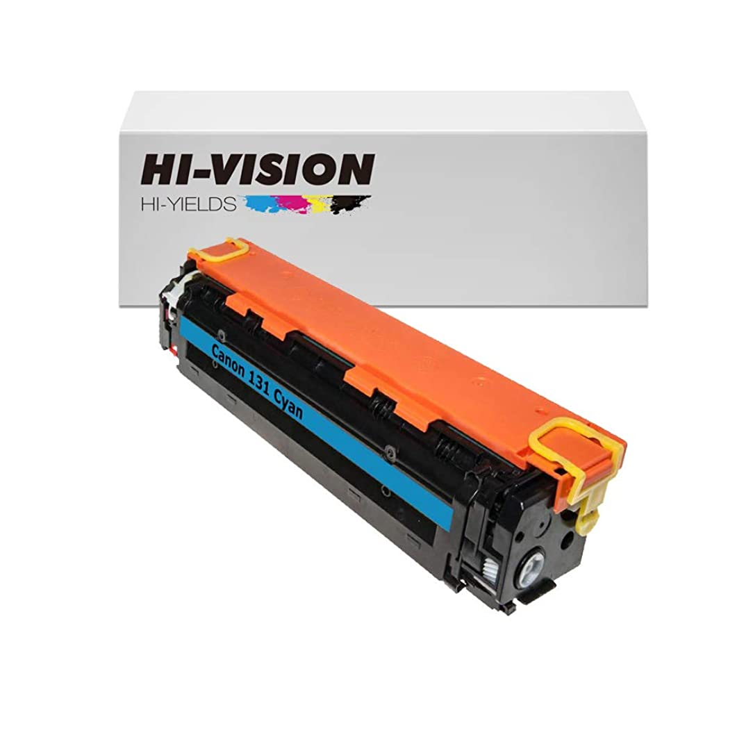 HI-VISION HI-YIELDS Compatible Toner Cartridge Replacement for Canon 131 (Cyan)
