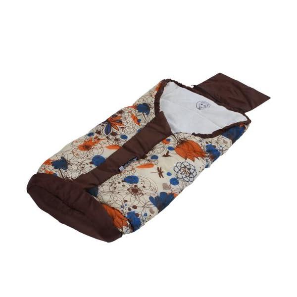 Infantastic Saco de abrigo universal, diseño Happy Flower (120 x 50 cm)   Saco portabebés de poliéster