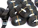 10x Spanngurt 5 Meter 250kg Zurrgurt Spangurte mit Klemmschloss Schnellspannung Farbe: schwarz ,...