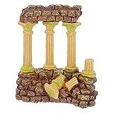 M I A Decoraciones de pecera de resina columnas romanas decoraciones de acuario peceras ruinas plantas decoración de acuario adornos