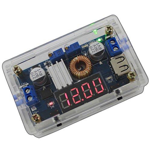 Convertidor y estabilizador 2en 1Step-Down de 5a 36V CC/CC, regulador de corriente y voltaje para lámparas LED, etc.