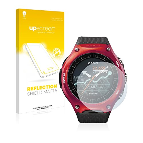 upscreen Entspiegelungs-Schutzfolie kompatibel mit Casio WSD-F10 – Anti-Reflex Bildschirmschutz-Folie Matt