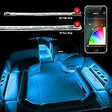 8pc 36' + 8pc 10' Strips Boat Marine Interior Accent Lighting XKchrome App Control Interior LED Accent Light Kit for Yacht Pontoon Mastercraft Malibu Supra Tracker Yamaha Supra Bayliner