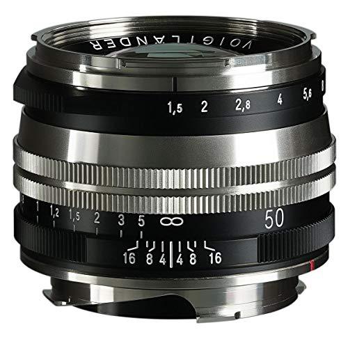 Voigtlander Nokton Vintage Line 50 mm f/1.5 Aspherical II VM mehrfach beschichtetes Objektiv, Nickel