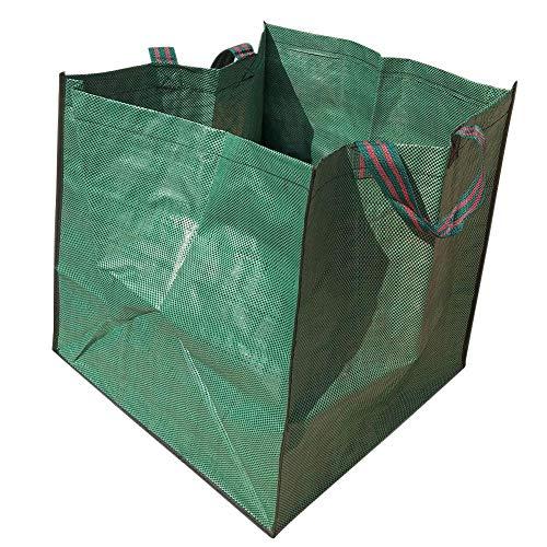 circulor 2 STÜCKE Gartenabfallsack, Grüne Blätter Pickup Bag Mit Leinwand Militär, Gartentasche Vertikale Beständige Garten Werkzeugtasche Grün Große Feste Faltbare Müllsack