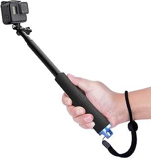 Luxebell Selfie Stick Adjustable Telescoping Monopod Pole for Gopro Hero 7 6 5, Session 5, Hero 4/3+/3/2 Fusion (Black)