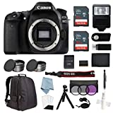 Canon EOS Rebel 80D Body Only Bundle + Advanced Accessory Kit - Including to Get Started