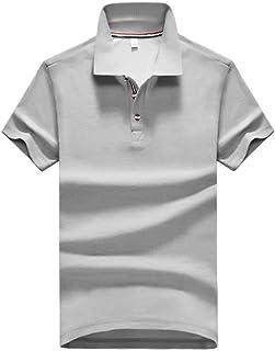 Polo de Solapa de Seda con Hielo para Hombres explosivos, Camiseta Delgada de Verano de Media Manga, Sudadera