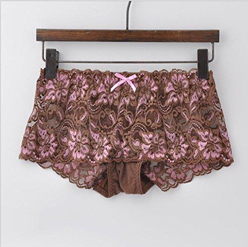 Rey&qing Meine Damen Unterwäsche Taille Hosen Nahtlose Baumwolle Spitzenstoff Unterwäsche Frauen Ausgeht, Alle 90 Pfund [140 Pfund], Kaffee