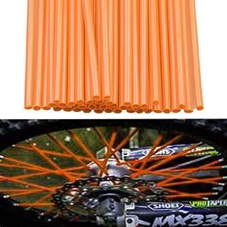 Apofly 72 Pcs Spoke Skins Universal Motocross Dirt Bike Spoke Wraps Shrouds Skins Covers Black