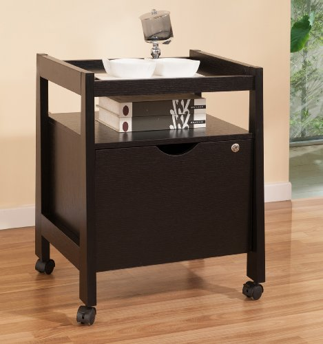 ioHOMES Roy File Cabinet, Black