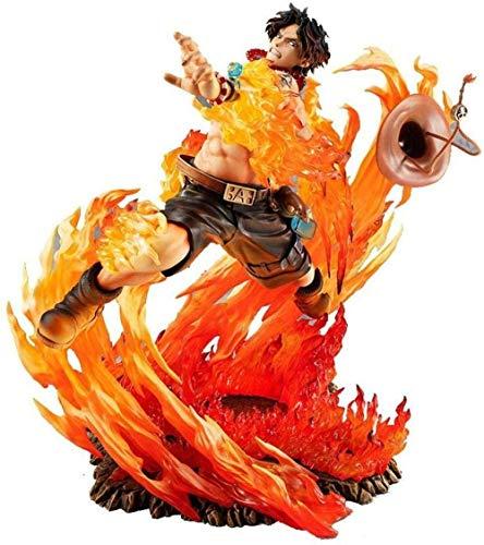 Yooped Figura de acción de One Piece Portgas · D · Ace Puño de Fuego 25CM-Figura de Anime Figura de Anime Modelo de Estatua Colección de decoración Jouet de Collection Portgas · D · Ace