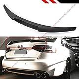 Cuztom Tuning V Style Highkick Duckbill Carbon Fiber Trunk Lid Spoiler Wing Compatible for 2013-2016 Audi A4 B8.5 Facelift