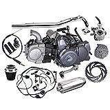 WPHMOTO Complete set of Lifan 125cc Engine Semi-Auto 4 Stroke Motor with Wiring Harness Carburetor Chain Sprocket Exhaust Muffler Pipe Kit for Trail Bike CT70 90 110 125 Dirt Bike Trike