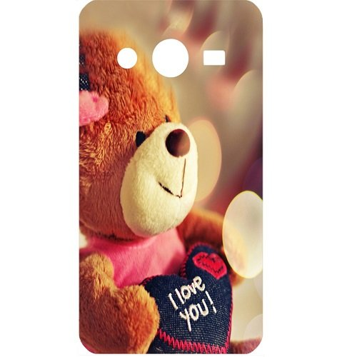 Casotec Teddy Bear Design Hard Back Case Cover for Samsung Galaxy Core 2 G355H
