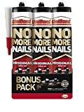UniBond No More Nails Original, Heavy-Duty Mounting Adhesive, Strong Glue for Wood, Ceramic