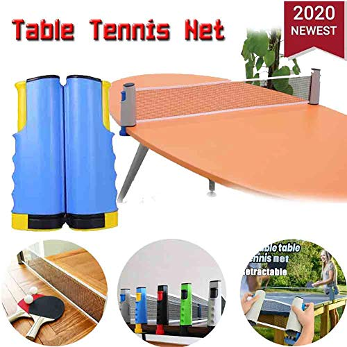 Fantastic Deal! Games Retractable Table Tennis Ping Pong Net Kit Replacement Portable Set Rack (Yell...