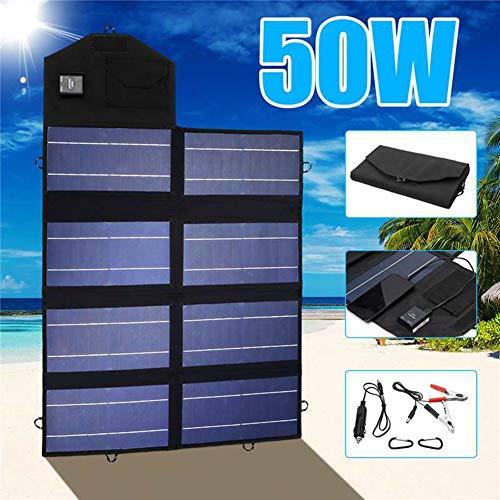 SDlight Panel Solar portátil 50W 12V Plegable Banco
