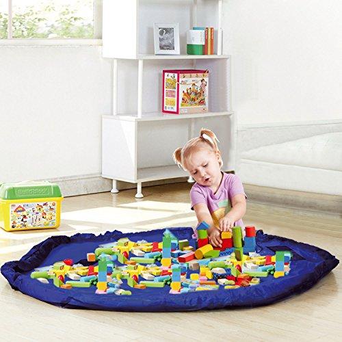 Taylor & Brown Toy Storage Bag, Large Tidy Bag Kids Rug Portable Kids Toys Organiser Storage Drawstring Bag Play Mat 150cm