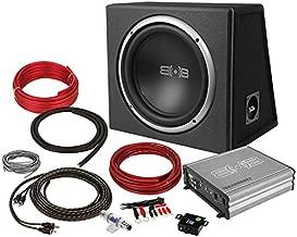 Belva 600 watt Complete Car Subwoofer Package includes 12-inch Subwoofer in Ported Box, Monoblock Amplifier, Amp Wire Kit [BPKG112v2]