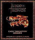 Juego de Tronos. Casa targaryen: dragón: Máscar 3D y soporte pared