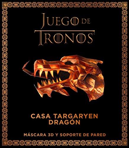 Juego de Tronos. Casa targaryen: dragón: Máscar 3D y soporte pared (Series y Películas)
