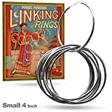 Magic Makers Linking Rings Small 4 Inch Set of 8 Rings with Online Learning