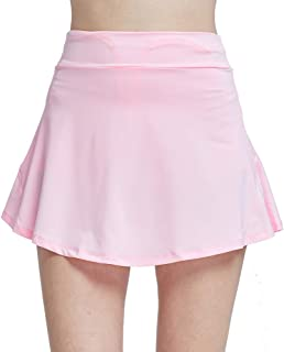 CNSSKJ Women's Active Athletic Skirt Inner Shorts Lightweight Skort with Pockets for Running Golf Tennis Yoga(S-3XL)
