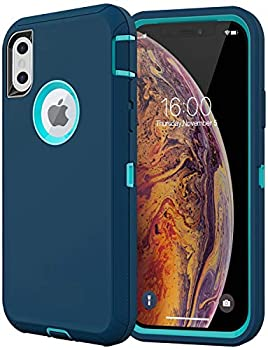 Diverbox Compatible with iPhone Xs Case,iPhone X Case [Shockproof] [Dropproof] [Dust-Proof],Heavy Duty Protection Phone Case Cover for Apple iPhone Xs and X  Turquoise