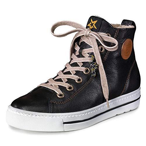 Paul Green 4842 Damen Sneakers Schwarz/Braun, EU 39