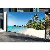 Seitenmarkise mit Fotodruck SÜDSEE, Sichtschutz, Windschutz