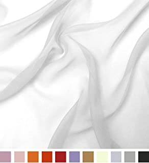 Best chiffon fabric white Reviews