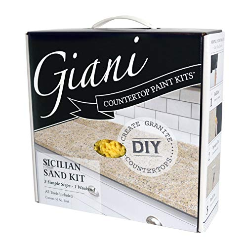 Giani FG-GI SICILIAN - Pintura para encimera, arena de Sicilia negra