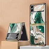 BaiFu Custodia per Samsung Galaxy Z Flip3 5G Cover, PC Case per Telefono Ultrasottile...
