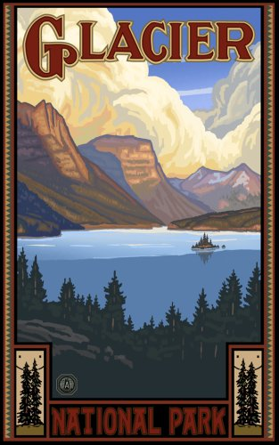Northwest Art Mall 11 X 17 Poster St Mary Lake Glacier National Park By Paul A Lanquist Buy Online In Burkina Faso At Desertcart