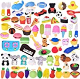 ArtioHipo 110PCS Pencil Erasers Japanese Puzzle Removable Animals Food Erasers Mini Kawaii for Kids Party Gifts School Games Prizes Classroom Rewards and Novelty Toys Cute Erasers Set(Random Designs)…