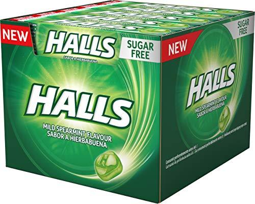 Halls - Pack de Caramelos de Sabor Menta Verde, 20 Unidades