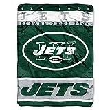 The Northwest Company Jets Football - Raschel Plush 60x80 inch Twin Size Throw Blanket