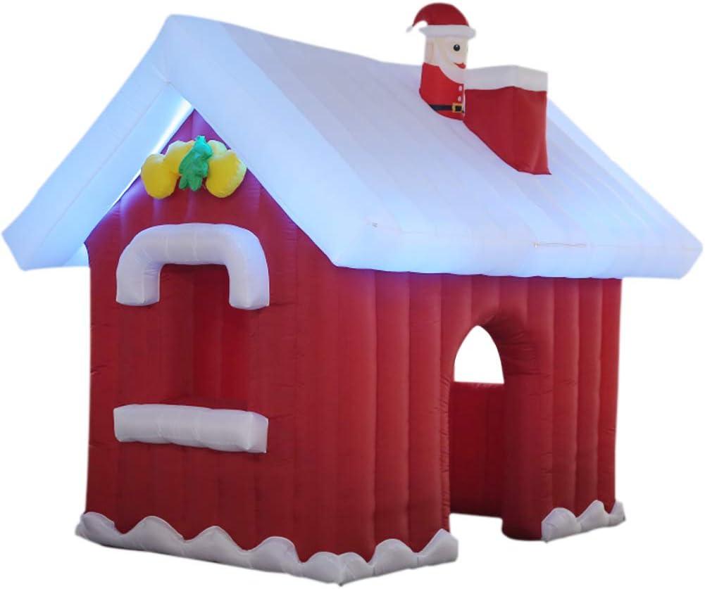 Ranking TOP18 Oakland Mall SAYOK Inflatable Christmas Santa House with Lights B and LED Air
